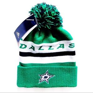 🆕 Adidas Dallas Stars NHL Winter Hat Beanie Green